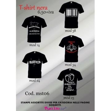 T-shirt nere personalizzate ..