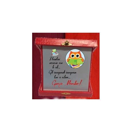 Targa in scatola Grazie Maestra