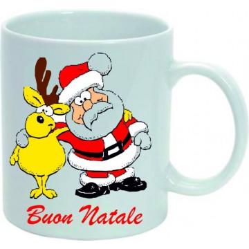 Tazza in ceramica mug cm 8x10 buon natale
