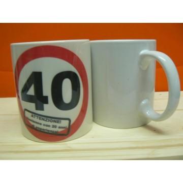 Tazza mug in ceramica compleanno 30 - 40 - 50 misura 8x10
