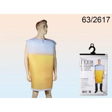 Costume da adulti, Birra, misura unica, in sacchetto di plastica da appendere
