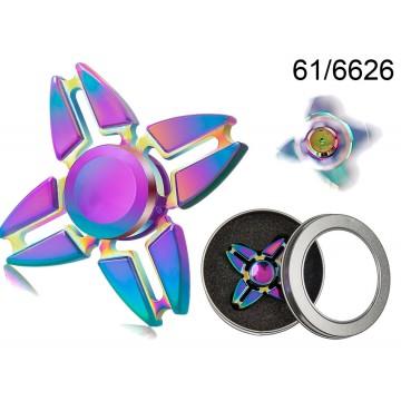 Crazy Gyro Spinner in metallo Rainbow II, ca. 6 cm