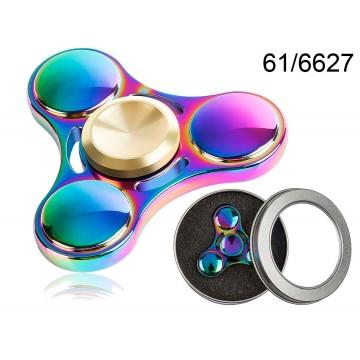 Crazy Gyro Spinner in metallo Rainbow III, ca. 6 cm