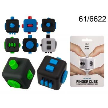Cubo per le dita, ca. 3,5 x 3,5 cm, 4 colori ass., su blister