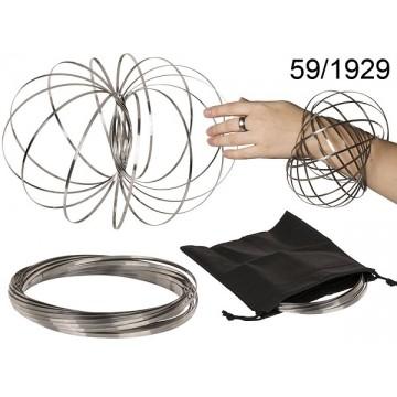 Molla in metallo, Floating Ring, D: ca. 12 cm, con tasca, su blister, 12 pz. per display