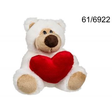 Orsetto in peluche con cuore rosso, Big Love, ca. 15 cm