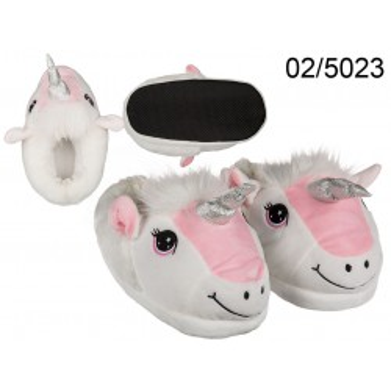 Pantofole soft, Unicorno, 100% poliestere, misure: 37 - 42 (3 misure 37/38, 39/40, 41/42)