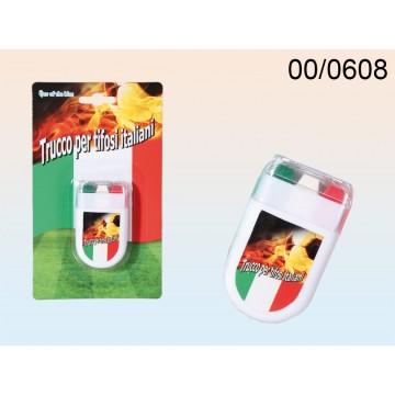 00/0608 - Trucco per tifosi in stick, Bandiera Italiana, ca. 6 cm, su blisterEAN 4029811345847