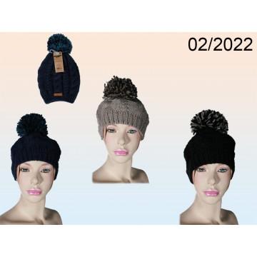 02/2022 - Berretto invernale con fiocco, 100% poliacrilico, ca. 9 g, 3 colori ass., con gancioEAN 402981132783612 pezzi
