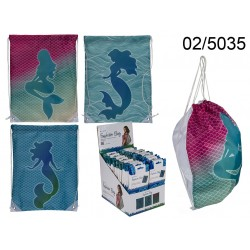 02/5035 - Borsa fashion, Sirena, ca. 42 x 34 cm, 3 ass., su header card, 24 pz. per display, 1728/PALEAN 4029811394029