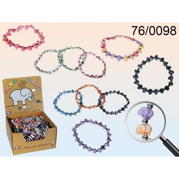 76/0098 - Braccialetto dell'amicizia, Elephantz, 10 ass., 100 pz per displayEAN 8055002680073