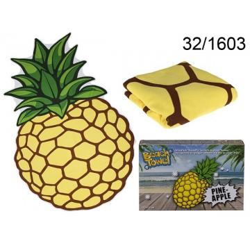 Asciugamano da spiaggia, Ananas, materiale: microfibra, ca. 120 x 170 cm, 250 gm