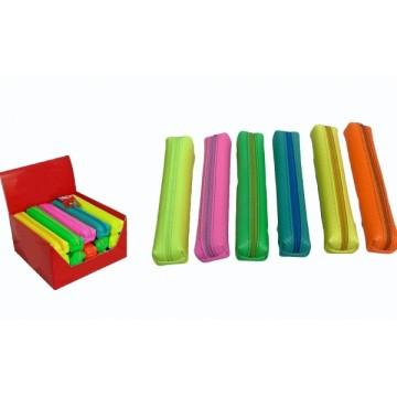 Astuccio fluo color in plastica cm 20x6