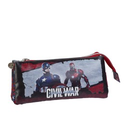 astuccio portatutto 3 tasche captain america civil war 22x12x7cm
