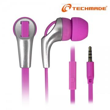 Auricolari con microfono techmade rosa