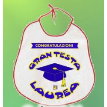 Bavaglione laurea Gran testa di laurea