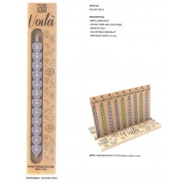braccialetto toolate voilà in espositore da banco 18 pz, 3 modelli, colori ass.ti (prezzo al pubblico euro 19,90)