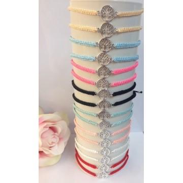 Bracciali Infinito in metallo e corda colori esp.24 pezzi