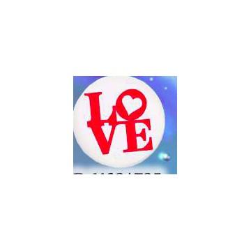 Calamità rotonda personalizzata con frase ( LOVE )