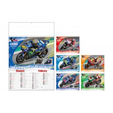 Calendario moto gp 2018 carta pattinata lucida 6 pagine  cm 33x50 spazio per personalizzazione33,2x9,8
