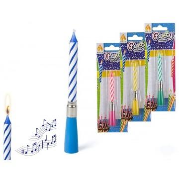 candelina musicale happy birthday display 36 pezzi