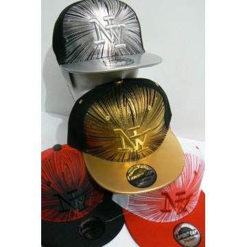 Cappellino Rap ny con stampa  glitterata e ricamo colori assortiti pezzi 12
