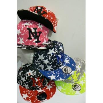 Cappellino rap Stelle colori assortiti taglia unica conf 12 pezzi