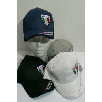 Cappello Italia con frontino assortito in 5 colori con. 12 pezzi