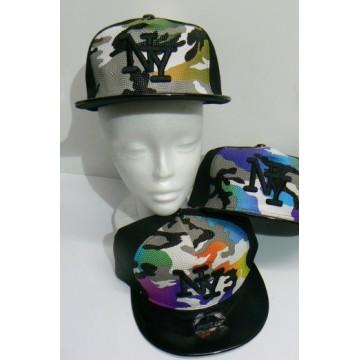 Cappello Rap mimetico in 4 colori assortito pezzi 12