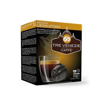 capsule caffe' 3 venezia leon d'oro 16 capsule compatibile a modo mio