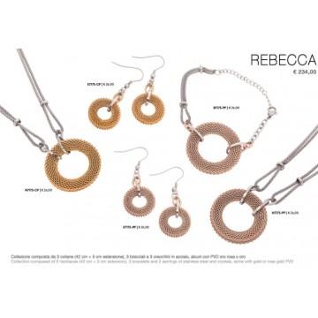 Collezione composta da 3 collane da cm 42 + 5 di estensione 3 bracciali 3 orecchini in acciaio alcuni in pvd oro rosa euro cad