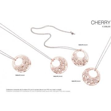 collezione composta da 8 collane da cm 70 in acciaio e pvd oro e rosa con cristalli euro cad 13,00 pubblico consigliato 26,00 c