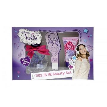 Conf. regalo segnalibro Violetta, contiene 1 profumo 50 ml, un gel doccia in tubetto 30 ml e un segnalibro