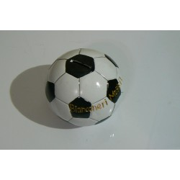 salvadanaio ceramica pallone bianconero cm.13