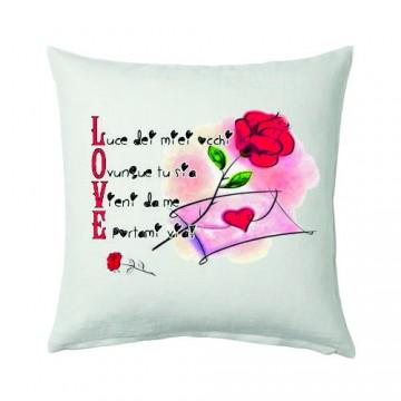 cuscino 40x40 con scritta LOVE idea regalo san valentino amore