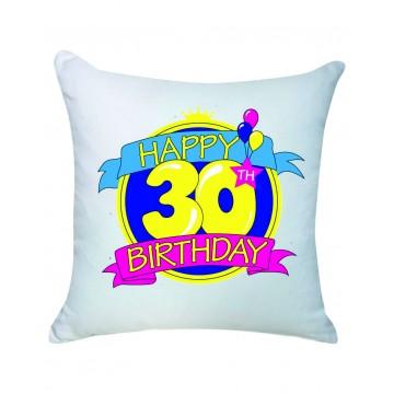 cuscino compleanno 30 anni happy birthday 40x40 cm