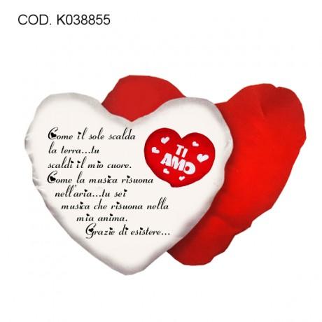 Cuscino cuore 40x40 Ti amo