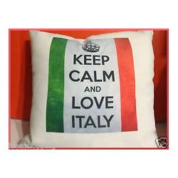 CUSCINO I LOVE ITALIA 40X40 CIRCA BIANCO
