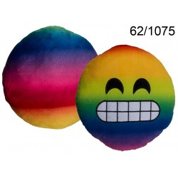 Cuscino in peluche, Rainbow Smile Emotion, ca. 30 cm, 200/PAL