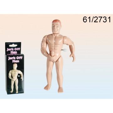 figura in plastica a ricarica, jerk off man, ca.13,5 cm, in confezione con headercard