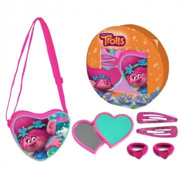 gift kid tracolla+specchietto cuore+acc. capelli trolls
