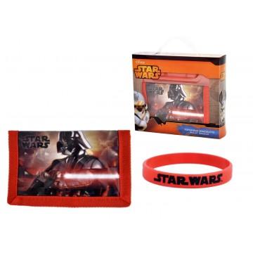 gift kids portafoglio+bracciale star wars