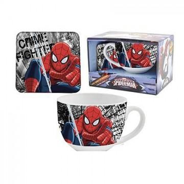 gift kitchen tazza+sottobicchiere spiderman