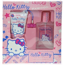 gift set h.k. con eau de toilette,docciaschiuma+beauty x cell. hello kitty