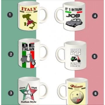 kit 5 TAZZE ASSORTITE MADE IN ITALY