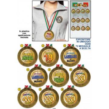 medaglia olimpica con tricolore Ø cm 9