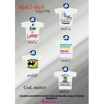 Mini t-shirt personalizzate ..