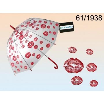 Ombrello a cupola, Bacio rosso, D: ca. 85 cm