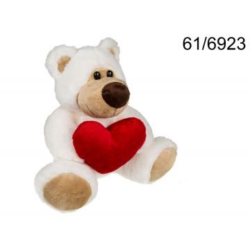 Orsetto in peluche con cuore rosso, Big Love, ca. 20 cm