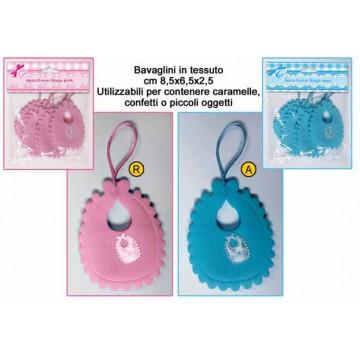 set 4 sacchetti bavaglino min. pz. 12 assortiti a scelta oppure 6 ogni colore